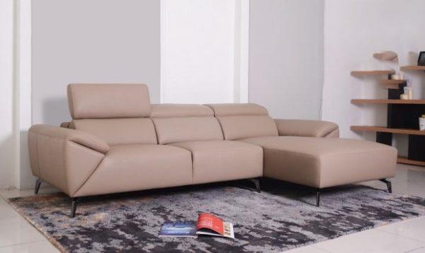 Sofa da góc Malaysia : ZL 2683