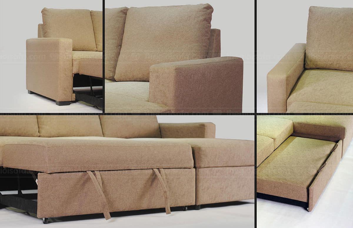 Sofa giường kéo đa năng Nunzio Showroom Thế Giới Sofa
