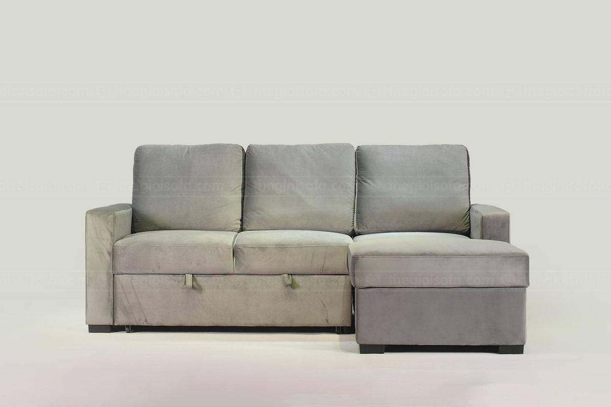 Sofa giường bọc nỉ Nunzio Grey - giải pháp hoàn hảo cho không gian nhỏ