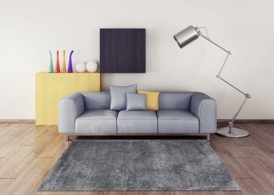 Thảm lót sàn màu xám - TGSN0002 thanh lịch, sang trọng
