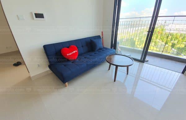 Giao hàng Sofa giường giá rẻ Sofaland Vera Blue cho anh Dương tại Ocean Park – Quận Thanh Xuân