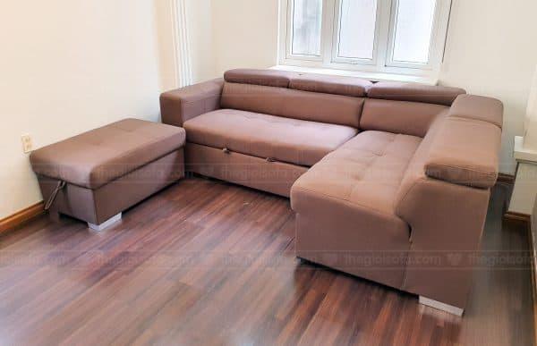 Giao hàng sofa giường góc Abby cho chị Thu tại số 40 Võ Thị Sáu – Quận Hai Bà Trưng