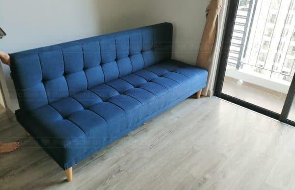 Giao hàng Sofa giường Sofaland Vera Blue cho nhà chị Vũ Loan tại Ecopark