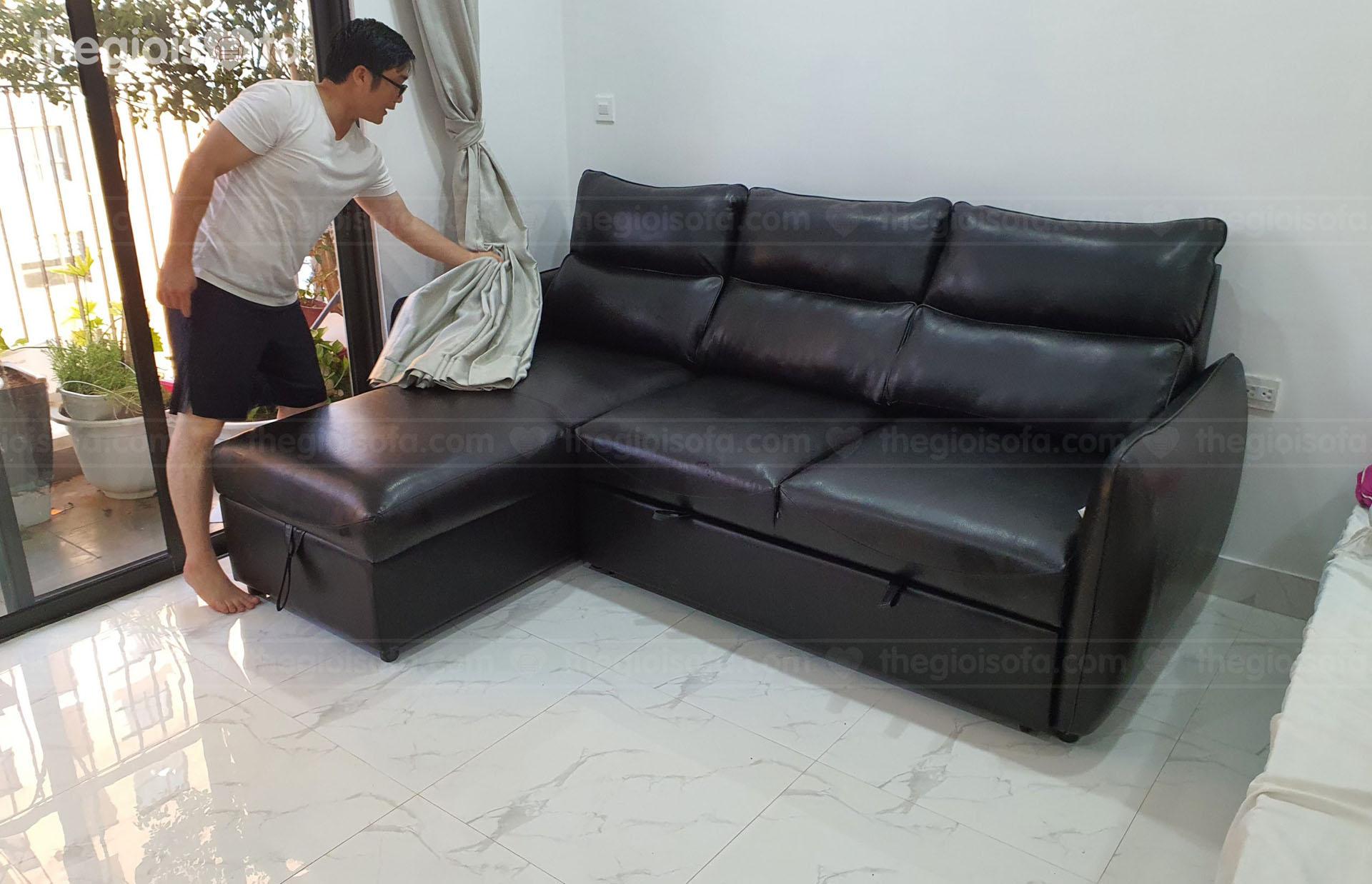 Giao hàng sofa giường Lisandra cho chị Nam ở Dcapital Trần Duy Hưng - Cầu Giấy - Hà Nội