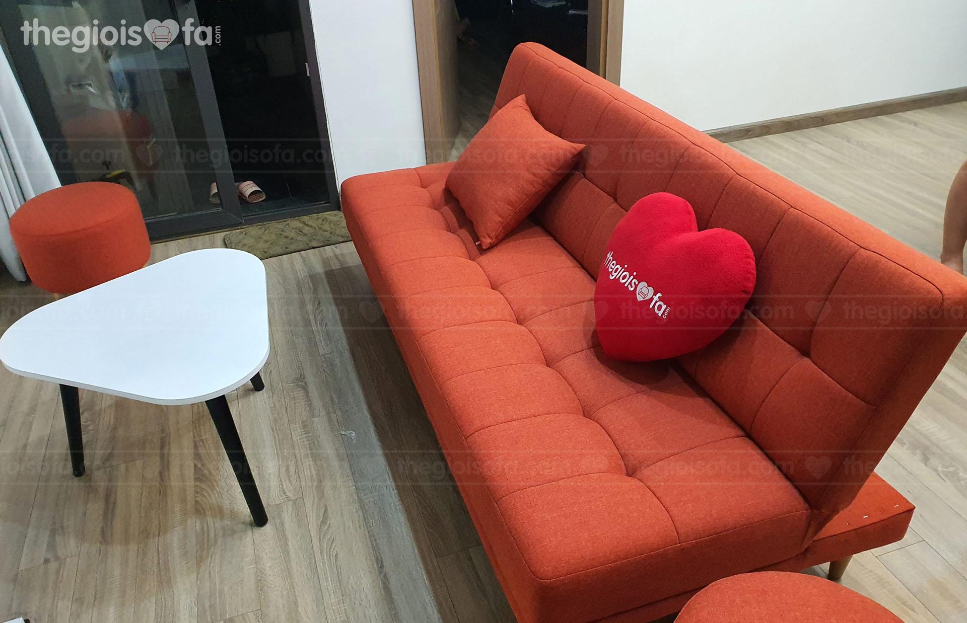 Giao hàng Sofa giường uy tín Sofaland Vera Oranges cho chị Hòa tại Đền Lừ - Quận Hai Bà Trưng