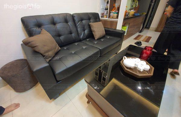 Giao hàng Bộ sofa da Sofaland Vista cho chị Lanh tại Phương Mai - Đống Đa – Hà Nội