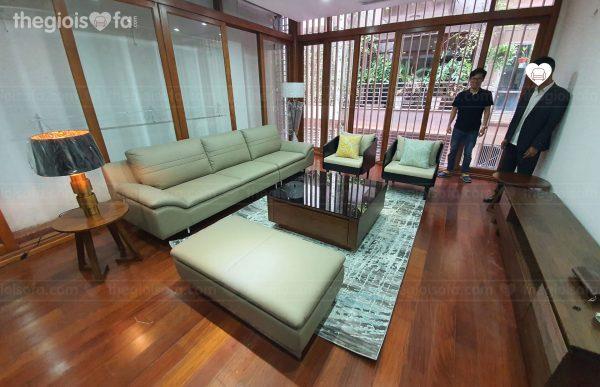 Giao hàng Sofa băng da CELLOTI 176 (RAFFLE) cho chị Hiền tại Lương Khánh Thiện – Huyện Chương Mỹ