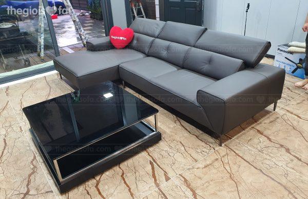 Giao hàng sofa da góc 1130L – Malaysia cho nhà chị Thảo tại Gamuda Garden – Quận Hoàng Mai