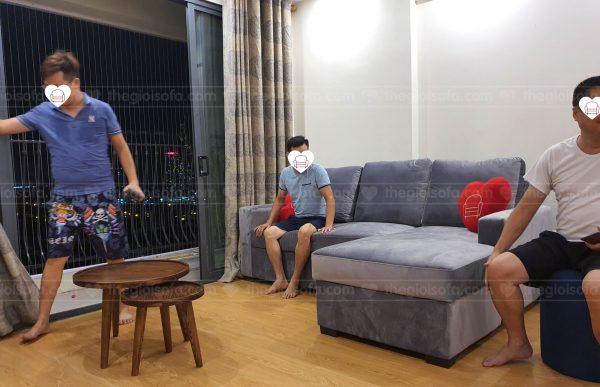 giao hàng sofa giường nỉ Nunzio Grey