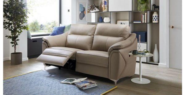 Sofa băng da Rivoli nổi bật nhờ chất liệu da cao cấp, sang trọng