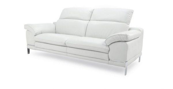 Sofa góc da San Marino với gam màu trắng thanh lịch, tính thẩm mỹ cao
