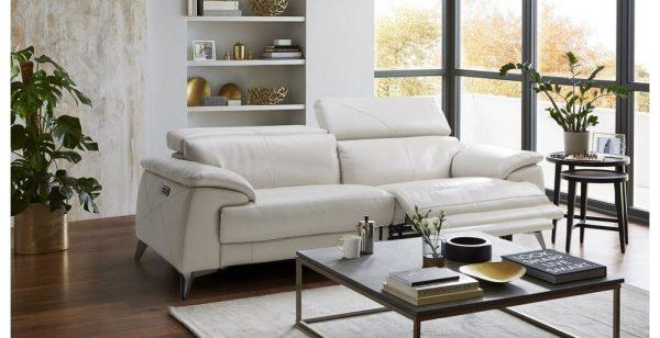 Sofa văng da Tanos chất liệu da mềm mại, chuẩn phong cách Ý