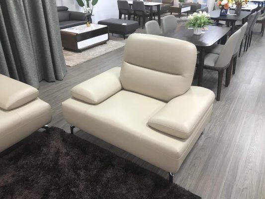 Sofa văng da Elenya cao cấp - showroom Thế Giới Sofa