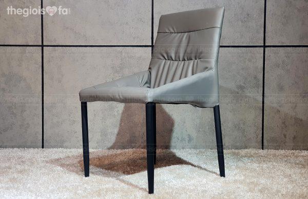 Ghế bàn ăn Florence - bọc da, chân sắt tĩnh điện
