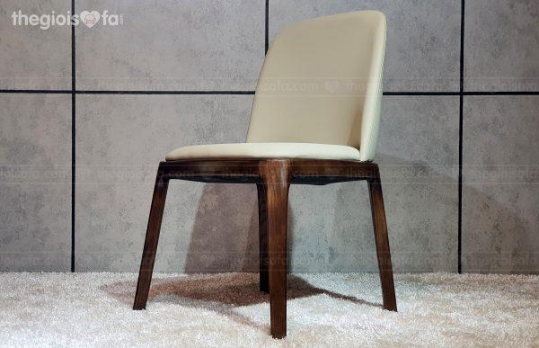 Ghế bàn ăn Bravo – bọc da cao cấp, khung gỗ