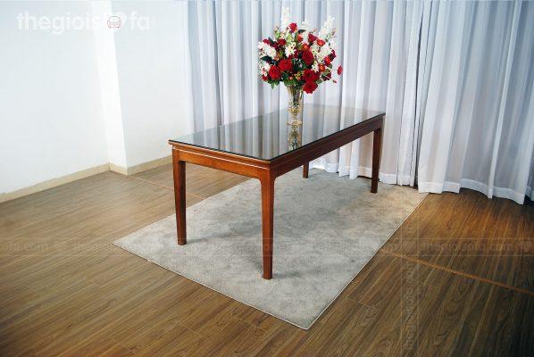 Bàn ăn 6 ghế gỗ Sồi Greenwood - mặt kính cao cấp