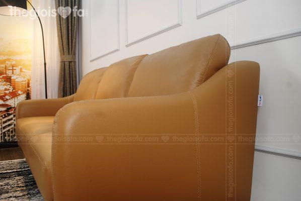Sofa Romero (SB119) 3s - Sofa da thật tiếp xúc (màu vàng)