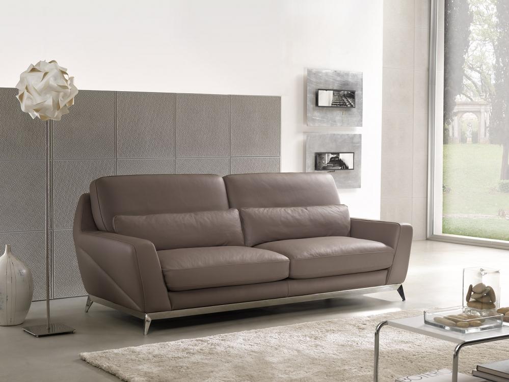 Sofa da bò Ý – Sofa văng Elysee - showroom Thế Giới Sofa
