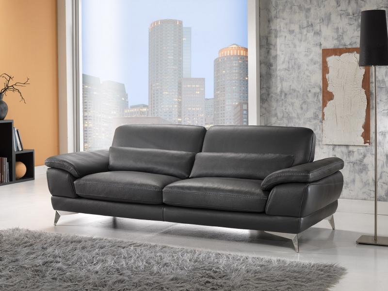 Sofa da bò Ý – Sofa văng Midland - showroom Thế Giới sofa
