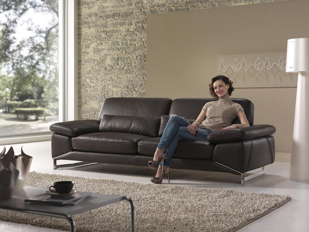 Sofa da bò Ý – sofa văng Park Avenue - Thế Giới Sofa