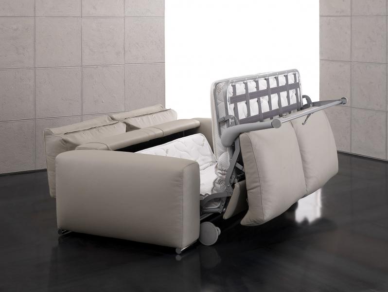 Sofa da bò Ý – Sofa giường Moma - showroom Thế Giới Sofa