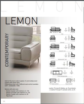 Sofa da bò Ý – Sofa góc Lemon