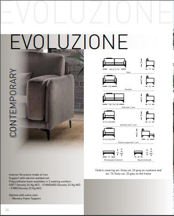 Sofa vải Ý – Sofa góc Evoluzione