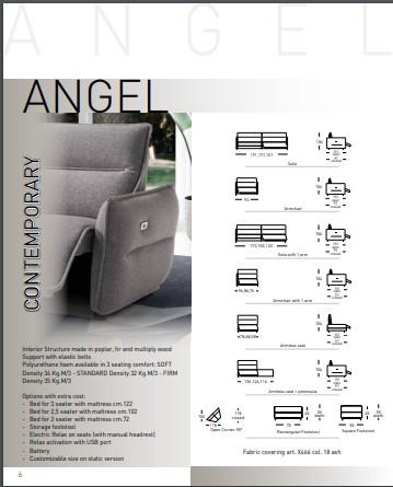 Sofa vải Ý - sofa văng Angel